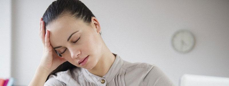 Уставшая женщина