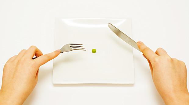 горошина на тарелке