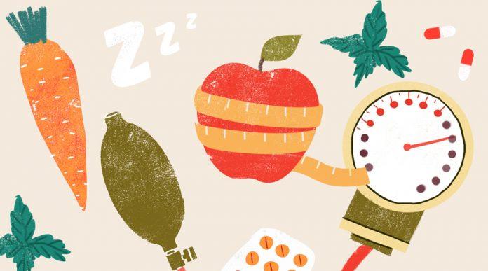 фрукты таблетки и тонометр