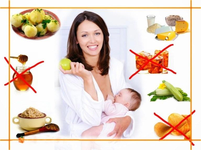 мама с ребенком и продукты