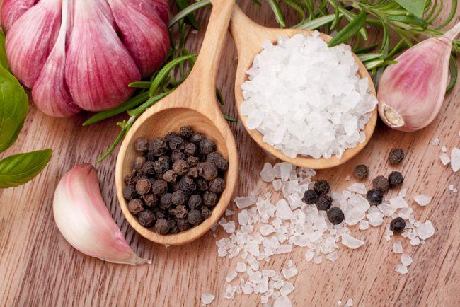 соль перец и чеснок